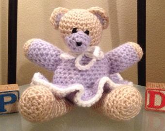 Crochet Teddy Bear In Tutu