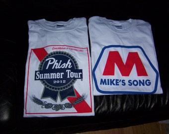 Phish shirts  Pabst Mike's Song Medium