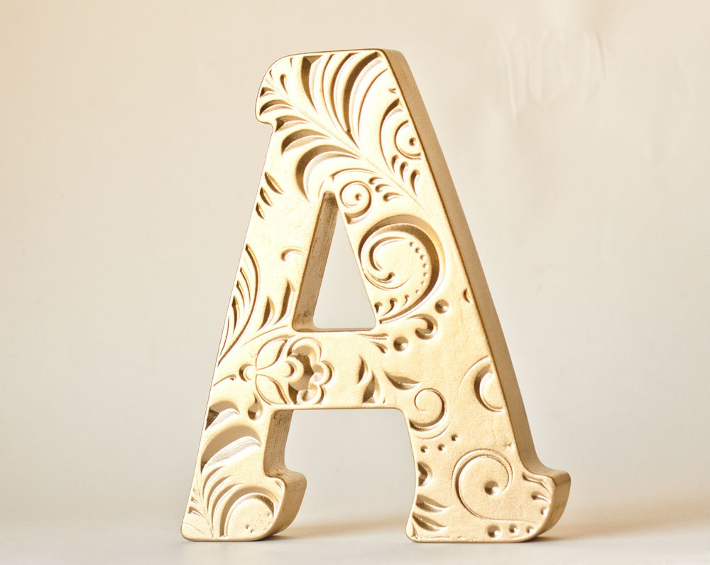 Decoration Gold Letter A Valentine 39 S Day Gift Wedding10