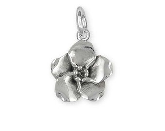 Solid Sterling Silver Forget-Me-Not Flower Charm  FMN2-C