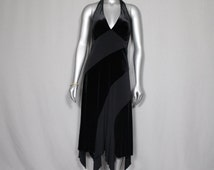 SALE (was 95.00) Curvy Girl Black Halter Dress Dinners Parties Awards Shows Weddings Proms