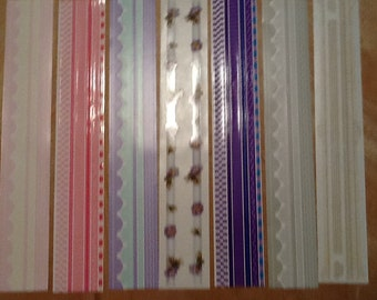 Mrs Grossman's Assorted Colors Design Lines and Stickers By The Yard 7 Strips 090