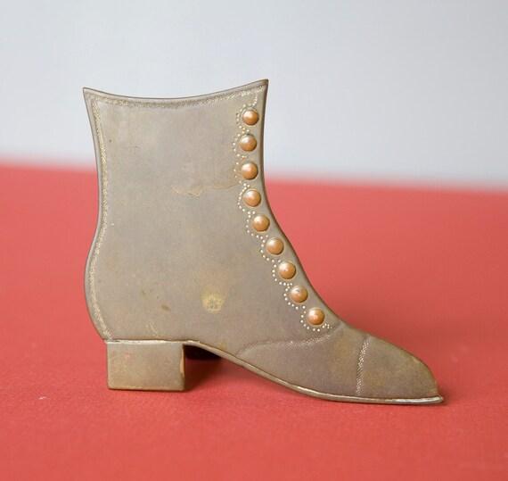 Sale Vintage Brass Victorian Shoe Decor