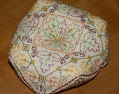 Biscornu Autumn Leaves - embroidery pattern