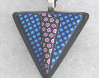 Dichroic Glass Necklace,  Dichroic Glass Pendant, Dichroic Glass, Necklace, Dichroic Glass Jewelry, Art Glass,  D114
