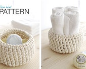 Crochet PATTERN: Rope bowl - adjustable size - INSTANT DOWNLOAD
