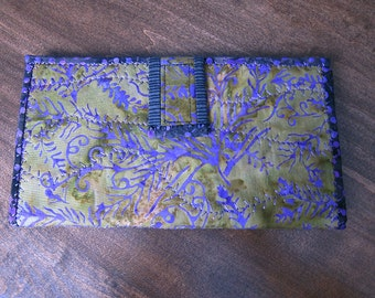 STORE CLEARANCE 30% Handmade Fabric Wallet, Clutch, Artistic, Credit Card Holder, Change Purse