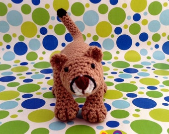 Nigel the Cougar a PDF Crochet Pattern