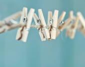 100 Miniature Wooden Clothespins