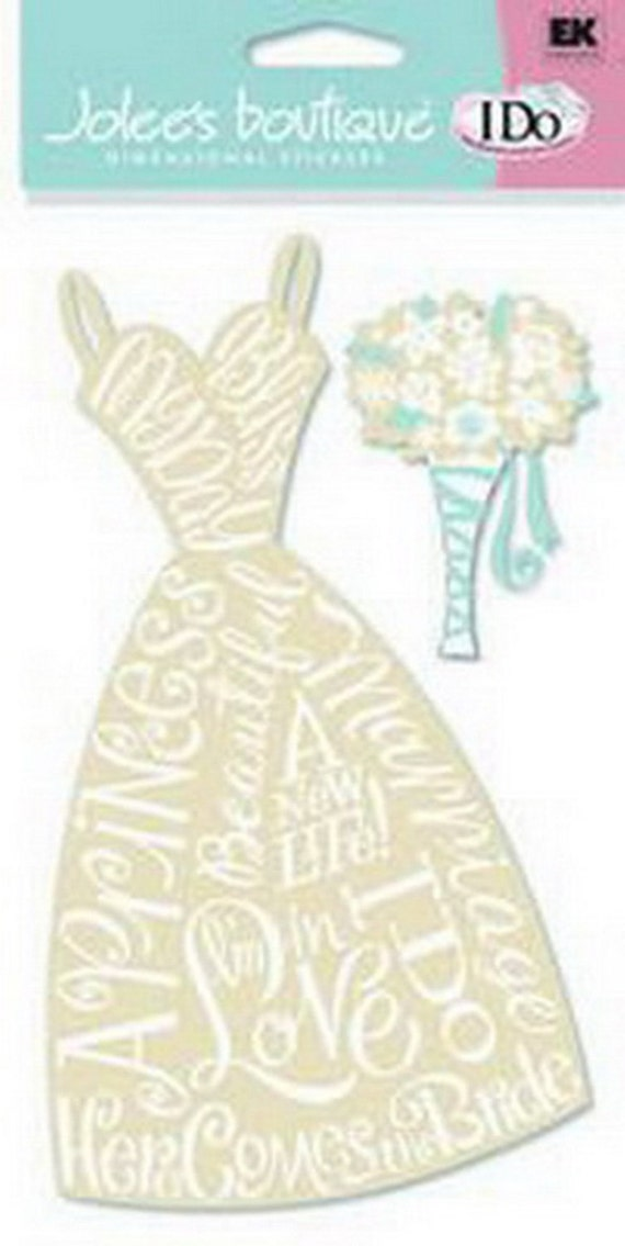New Scrapbooking Dimensional WEDDING Stickers By Jolees