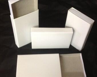 25 diapositive en carton blanc Uni plateau en bois type bonbons stockage faveur de boîtes d'allumettes
