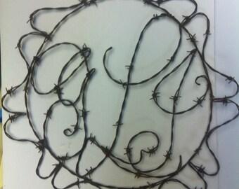 Monogram, Wire Monogram, Initials, Bab Wire art,