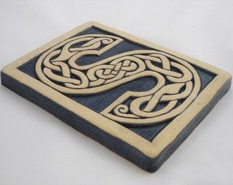 Letter S Celtic Knot Alphabet Tile