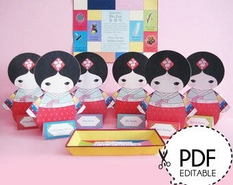 Korean Girl DolJabi kit - Printable PDF Download