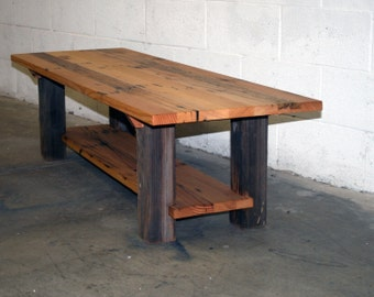 "The Dichotomy Coffee Table 60"" made from Reclaimed Fir & Barn Wood"