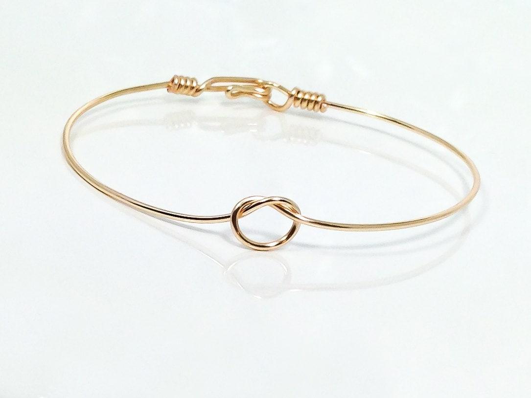 Tie the knot bracelet bangle bracelet wire knot bracelet