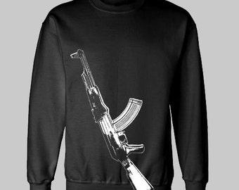 AK-47 RIFLE GUN sweatshirt sweat shirt
