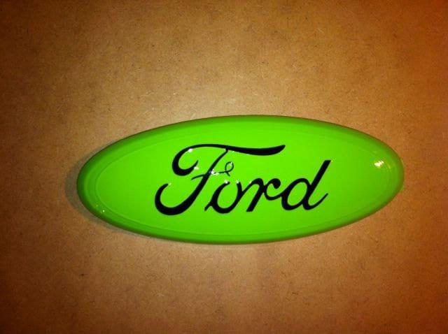 ford emblem neon green  black fits ford   ranger
