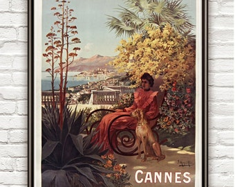 Vintage Poster of Cannes 1904 Tourism poster travel