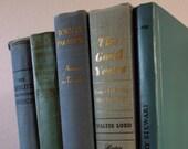 Vintage book collection, vintage blue books, vintage home decor, blue home decor, vintage book, book decor, vintage decor, light blue decor