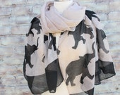 Elephant   Print   Scarf for  Woman great accessory for your outfit
