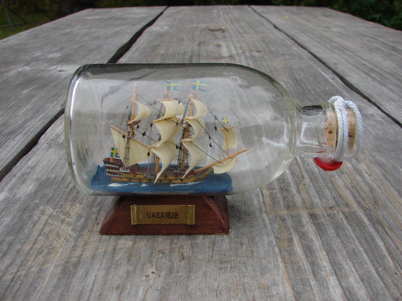 Vintage collectable ship in a bottle home decor birthday for Ship decor home