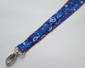 Peace Sign Lanyard Keychains for Women, Cool Lanyards for Keys, Id Badge Holder Necklace Lanyards, Cute Lanyards for Badges