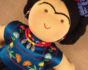12 inch Frida Kahlo waldorf inspired doll
