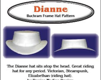 DN001 - Dianne Hat Pattern - Elizabethan, Victorian or Steampunk Riding Hat Sewing Pattern by Denise Nadine