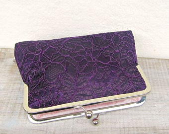 Purple clutch, purple lace clutch, purple bridal clutch, purple wedding purse, purple bridesmaid clutch, purple evening clutch, uk clutch
