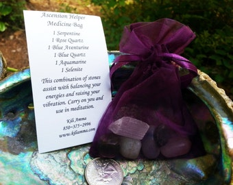 Ascension Symptoms Medicine Bag, Chakra Bag
