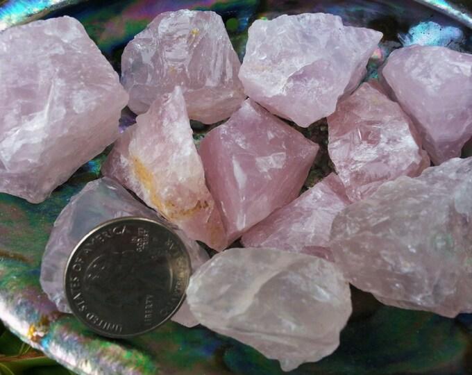 Rose Quartz ~ 1 large Reiki infused rough crystal