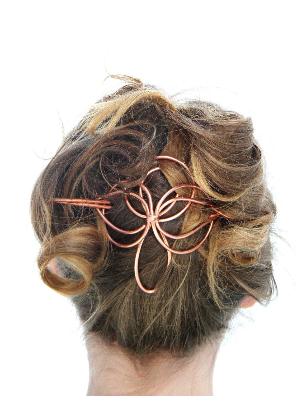 angel hair slide hair accessories copper hair barrette. Black Bedroom Furniture Sets. Home Design Ideas