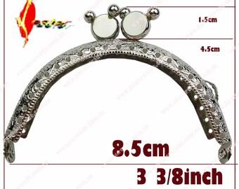 10pcs  8.5cm  10.5cm   2 color Mickey  kiss lock  coin purse frame clasp/clip( including pattern) wholesale  KS-02