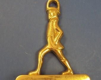 Hessian Soldier Cast Brass Door Stop Colonial Williamsburg