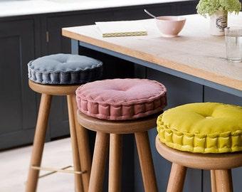 round cushion handmade 100 with kirkby design fabrics