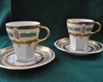 Porcelain Demitasse Cups - Set of 2 - LS.S/M.Z