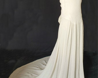 1940s Wedding Dress In Cloqué Fabric