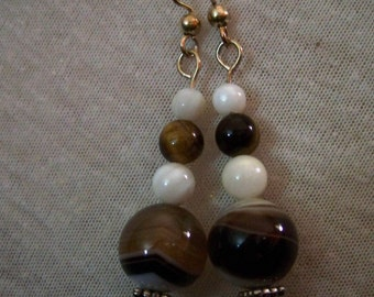 Silver-Tone Chocolate Swirl Earrings  #EA-1i-140013