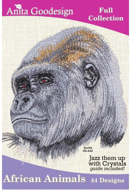 Anita goodesign african animals embroidery cd
