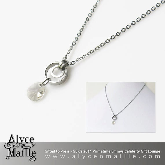Alyce n Maille Twilight Crystal and Stainless Steel Necklace