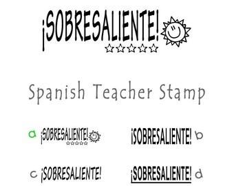 Sobresaliente Spanish Pre Inked Teacher Stamp 772805