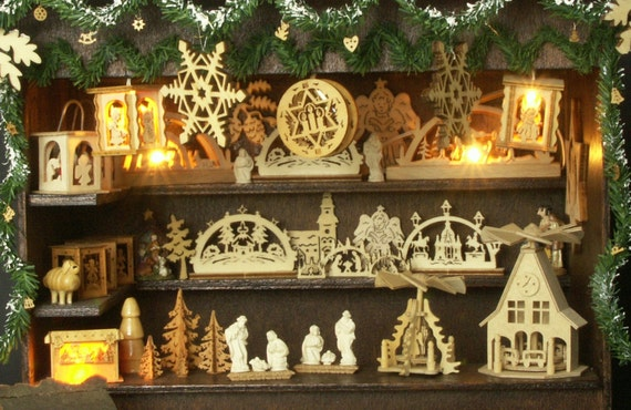Items Similar To German Miniature Christmas Market Stall
