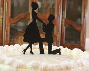 Engagement Cake Topper - Ashley