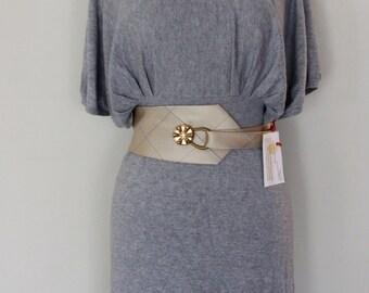 Wrap Around Belt, Vintage Tie Belt, Classy Gold Belt