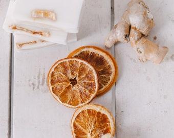ORANGE GINGER SOAP | Organic | Glow | Radiant Skin