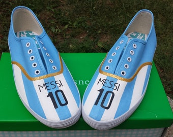 Lionel Messi World Cup Argentina jersey shoes