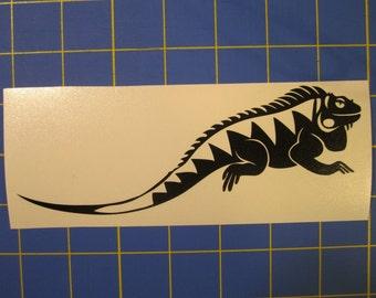 Iguana - Lizard  Decal/Sticker 2.5x7
