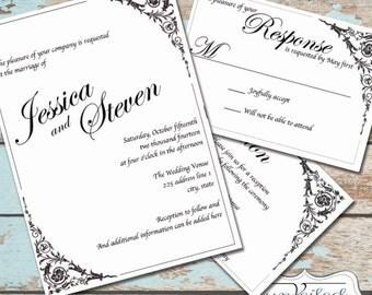 Instant Download Invitation Set - Fairy Tale