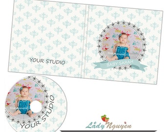 Instant Download CD/DVD Label and cover templates - CD039